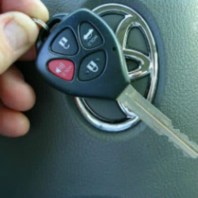 Replaced car key with remote entry