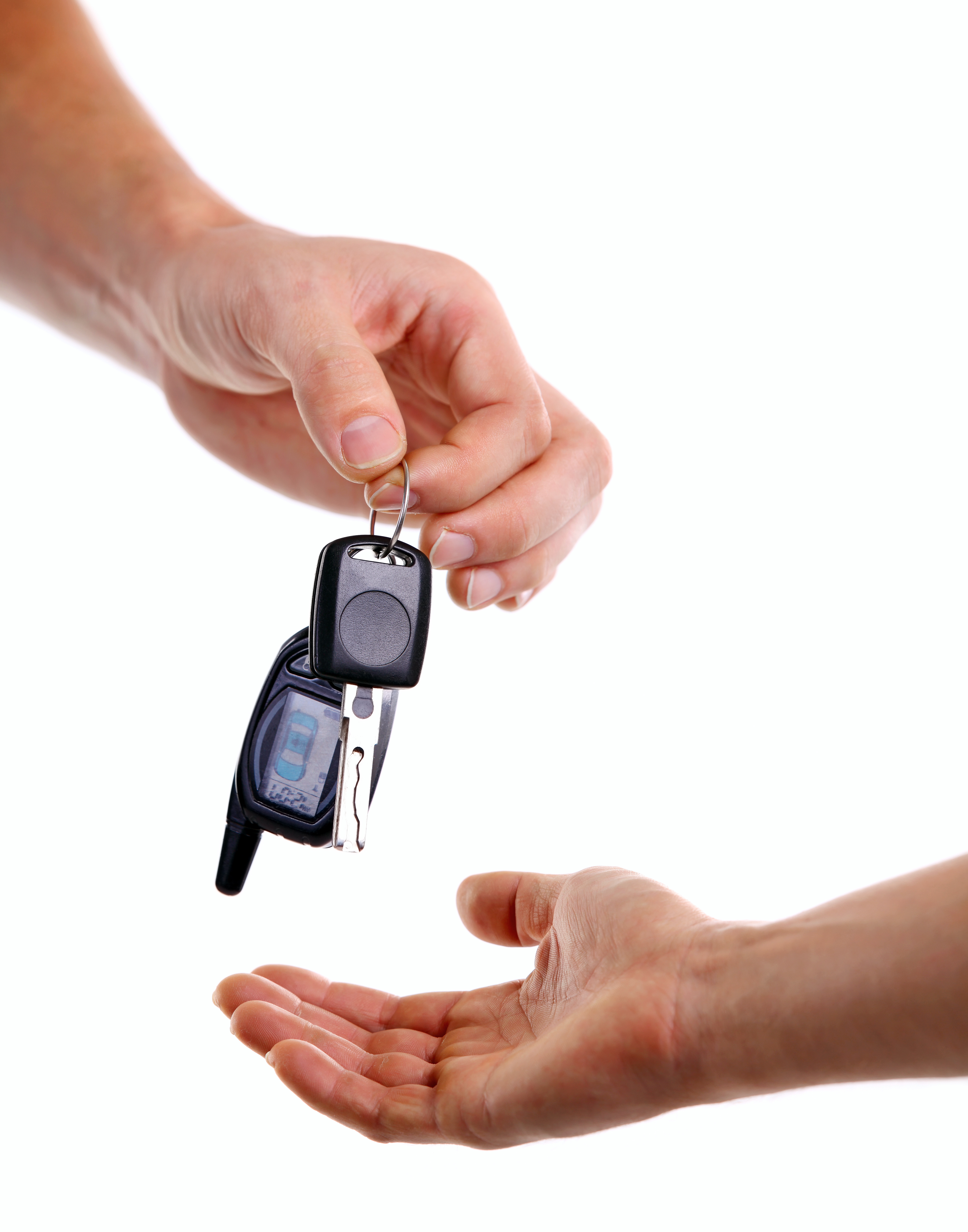 Car key replacement handed to customer