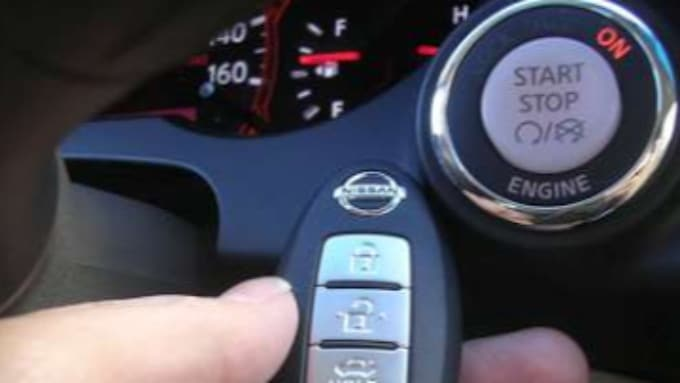 automotive locksmith programmed remote start key for Nissan